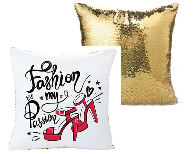 Personalized Sequin Pillow Cover, Your Choice of Photo/Image/Words, Full Color Customization, Custom Pillow Cover, Personalized Pillow Cover