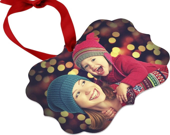 Personalized Photo Ornament, Your Choice of Photo/Image/Words, Design your Own Full Color Ornament, Double Sided, Custom Christmas Ornament