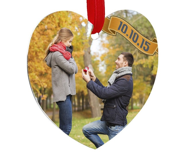 Personalized Photo Heart Ornament, Your Choice of Photo/Image/Words, Design your Full Color Ornament, Custom Ornament, Double Sided