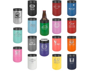 Laser Engraved Can Cooler, Your Choice of Image/Words, Polar Camel, Personalized, Stainless Steel, Custom Can Cooler,  Groomsmen Gifts