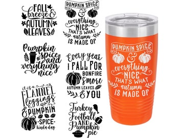 Fall Themed Laser Engraved Travel Mugs, Can be Personalized, 6 Different Fall Sayings, 20 oz. Polar Camel Insulated, Personalized Travel Mug