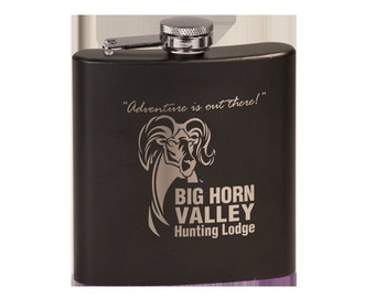 Personalized Matte Black Flask, Your Choice of Image/Words, Custom Flask,Laser Engraved Flask,Personalized Gifts,Groomsmens Gifts,Mens Gifts