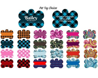 Personalized Pet Tag, Your Choice of Words, Double Sided Pet Tag, Custom Pet Tag, Personalized Dog Tag, Custom Dog Tag, Double Sided Dog Tag
