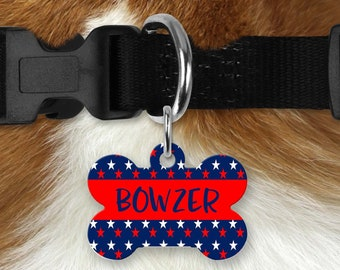 Personalized Pet Tag - Patriotic, Your Choice of Photo/Image/Words, Double Sided Pet Tag, Custom Pet Tag, Custom Dog Tag, Custom Pet ID Tag