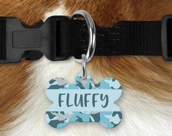 Personalized Pet Tag - Camo, Your Choice of Photo/Image/Words, Double Sided Pet Tag, Custom Pet Tag, Custom Dog Tag, Custom Pet ID Tag