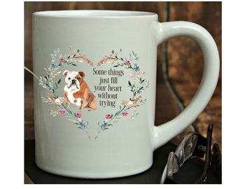 Personalized Dog Mug, English Bulldog or Your Choice of Breed, Can be Personalized, Your Choice of Words, 15 oz. Dog Memorial Mug, Dog Gifts