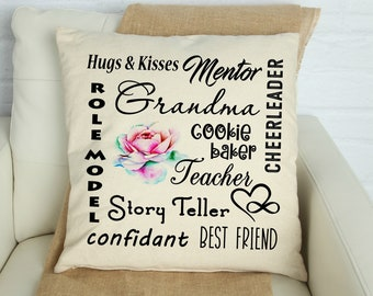 Grandma Saying Pillow Cover, Grandma Subway Sayings Pillow Cover, Gifts for Grandma, Gifts for Grandmother