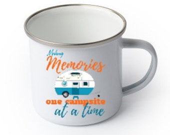 Custom Campfire Mug, Personalized, Your Choice of Photo/Image/Words, 17 oz., Personalized Camping Mug, Custom Camping Gifts, Wedding Gifts