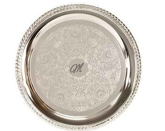 Personalized Silver-Plated Serving Tray, Custom Serving Tray, Engraved Serving Tray, Corporate Gifts, Anniversary Gifts, Personalized Gifts