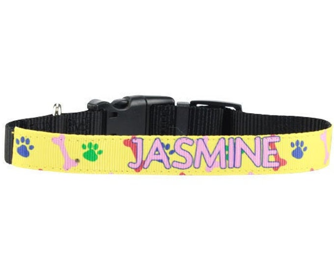 Personalized Pet Collar, Design Your Own  - Your Choice of Photo/Image/Words, Custom Pet Collar, Personalized Dog Collar, Adjustable