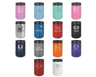 Personalized Can Cooler, Your Choice of Image/Words, Polar Camel, Laser Engraved, Stainless Steel, Custom Can Cooler,  Groomsmen Gifts