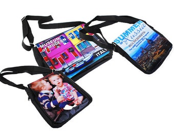Custom Photo Shoulder/Messenger Bag, Your Choice of Photo/Image/Words, Personalized Messenger Bag, Custom Handbag, Custom Photo Purse