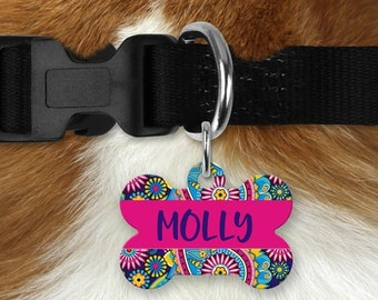 Personalized Pet Tag - Paisley, Your Choice of Photo/Image/Words, Double Sided Pet Tag, Custom Pet Tag, Custom Dog Tag, Custom Pet ID Tag
