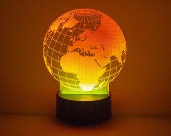 Laser Engraved LED Light Up Display/Sign - Your Choice of Image/Words, Multi-Colored, Acrylic, Custom Night Light, Custom LED Desk Lamp