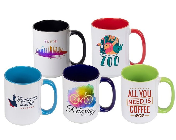 Custom Inner Color Mugs, Your Choice of Photo/Image/Words, 11 oz., Personalized Photo Mugs,Custom Picture Mugs, Ceramic Mug, Corporate Gifts
