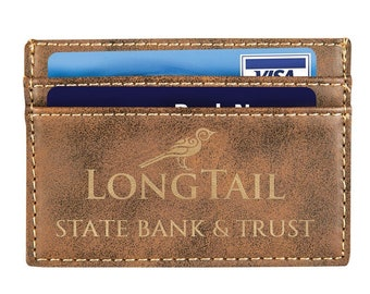 Personalized Wallet Clip or Your Choice or Words, Rustic, Custom Wallet, Laser Engraved Wallet, Son Gifts, Corporate Gift, Groomsmen Gift