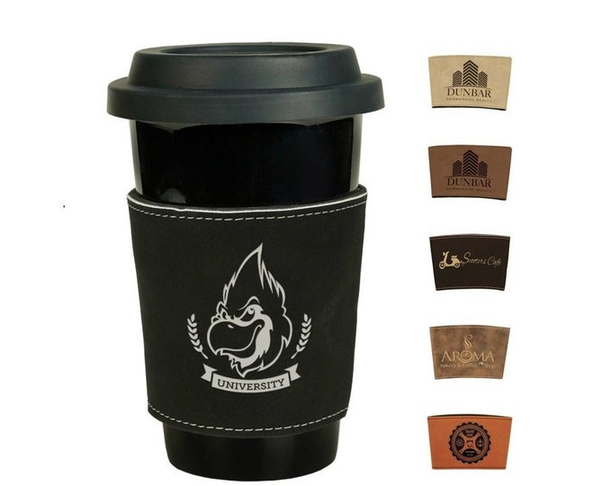 Personalized Mug Sleeve, Your Choice of Image/Words, Laser Engraved, Corporate Gifts, Custom Mug Sleeve, Engraved Mug Sleeve, Can Koozies