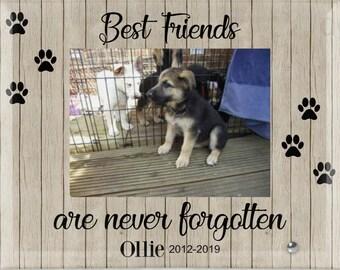 Personalized Dog Memorial Photo Frame, Dog Loss, Pet Loss Gift, Pet Memorial Frame, Pet Sympathy Gift, Cat Loss, Cat Memorial Frame