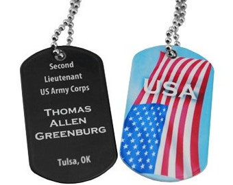 Personalized Dog Tag, Your Choice of Photo/Image/Words, Full Color, Double Sided, Custom Dog Tag Necklace, Stainless Steel, Custom Pendant