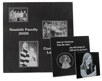 Personalized Granite Tile, Your Choice of Image/Words/Photos, Black Square,Personalized Plaque,Custom Plaque,Personalized Frame,Custom Frame