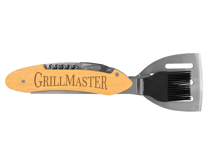 Personalized 5-in-1 BBQ Tool, Your Choice of Image/Words, Custom Barbeque Tools, Engraved Barbeque Gifts, Mens Gifts, Dads Gifts, Groomsmen