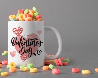 Valentine's Day Ceramic Mug, 15 oz., Can be Personalized - Custom Designed Mug, Personalized Mug, Valentines Gifts, Anniversary Gifts