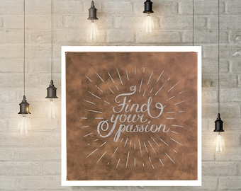 """Personalized Wall Art, Your Choice of Image/Words, Rustic/Silver, 10"""" x 10"""" Personalized Sign, Award Plaque, Custom Wall Art, Corporate Sign"""