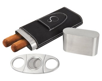 Personalized Leatherette Cigar Case, Your Choice of Image/Words, Engraved Cigar Case, Groomsmen Gifts, Corporate Gifts,Mens Gifts,Cigar Case