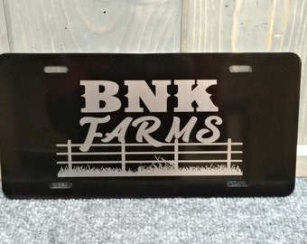 Custom License Plate, Laser Engraved, Your Choice of Image/Words, Personalized License Plate, Corporate License Plate, Farm License Plates