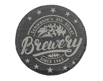 Personalized Slate Coasters, Your Choice of Words/Image, Laser Engraved, Custom Coasters, Personalized Gifts, Wedding Gifts, Corporate Gifts