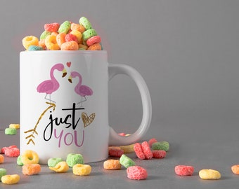 Just You Ceramic Mug, 15 oz., Can be Personalized - Custom Designed Mug, Personalized Mug, Valentines Gifts, Anniversary Gifts