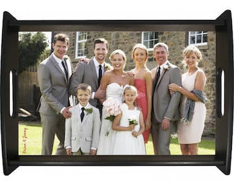 Personalized Photo Serving Tray, Black, Design Your Own, Your Choice Photo/Image/Words, Custom Serving Tray, Corporate Gifts, Wedding Gifts