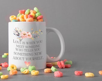 Love Saying Ceramic Mug, 15 oz., Can be Personalized - Custom Designed Mug, Personalized Mug, Valentines Gifts, Anniversary Gifts