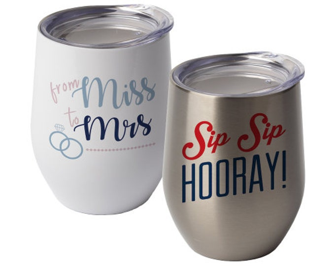 Custom Wine Glass, Personalize with Your Choice of Image/Words, 12 oz. Insulated, Stainless Steel, Personalized Wine Glass, Wedding Gifts