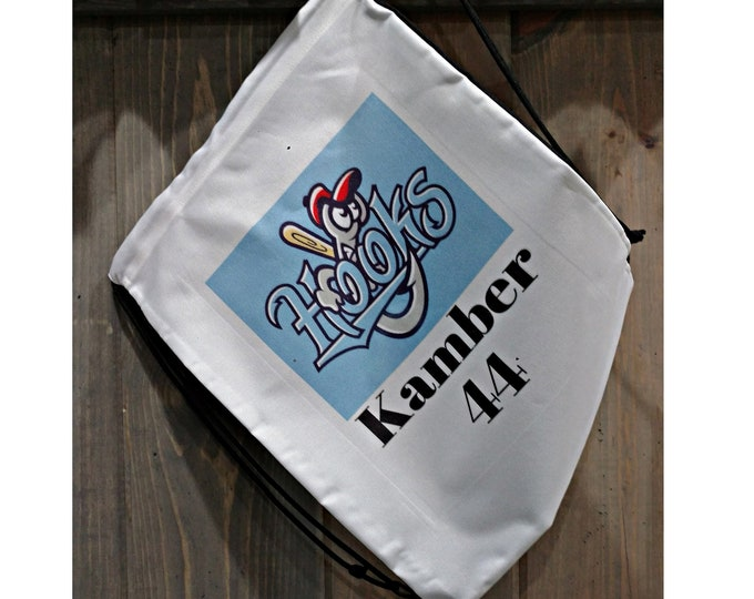 Personalized Drawstring Backpack, Your Choice of Photo/Image/Words, Sports Bag, Corporate Drawstring Bag, Custom School Bag, Sublimation