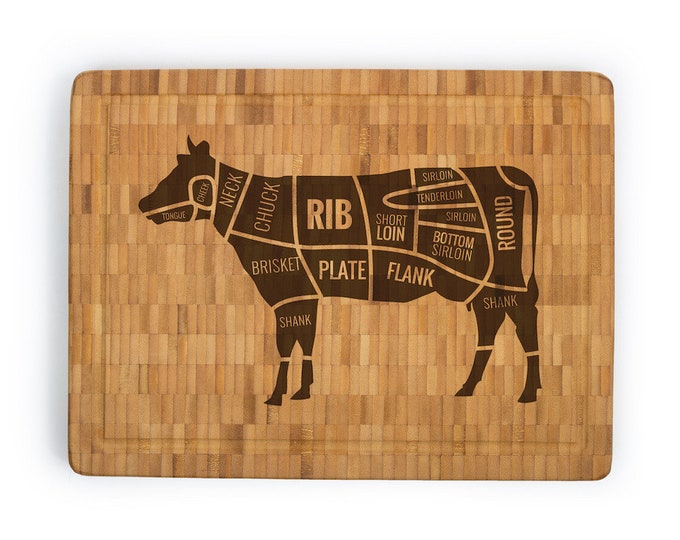 Personalized Bamboo Butcher Block - Your Choice of Image/Words, Laser Engraved, Custom Butcher Block, Engraved Butcher Block,Corporate Gifts