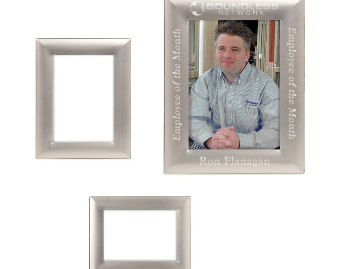 Personalized Silver Metal Photo Frame, Custom Photo Frame, Engraved Photo Frame, 5x7 or 8x10, Engraved Picture Frame, Custom Picture Frame