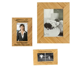 Personalized Bamboo Wood Photo Frame, Custom Photo Frame, Engraved Photo Frame,5x7 or 8x10,Laser Engraved Picture Frame,Custom Picture Frame
