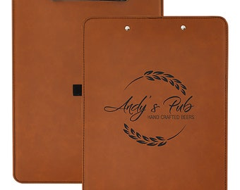 Custom Leatherette Clipboard, Your Choice of Image/Words, Rawhide Laser Engraved, Personalized Clipboard,Office Clipboard,Business Clipboard