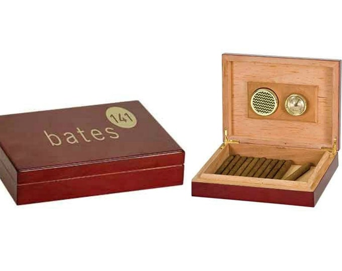 Personalized Humidor, Your Choice of Image/Words, Rosewood, Engraved Humidor, Custom Humidor, Personalized Cigar Box,Mens Gifts, Cigar Gifts