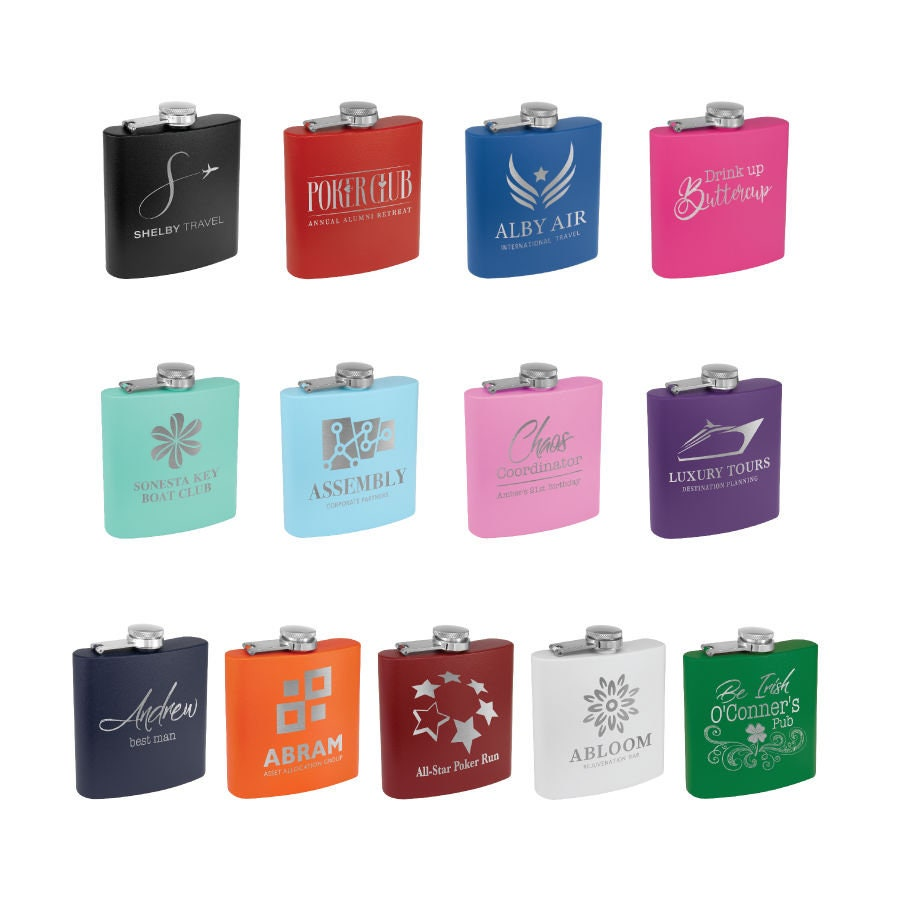 Personalized Flask, Your Choice of Image/Words, Custom Flask, Laser