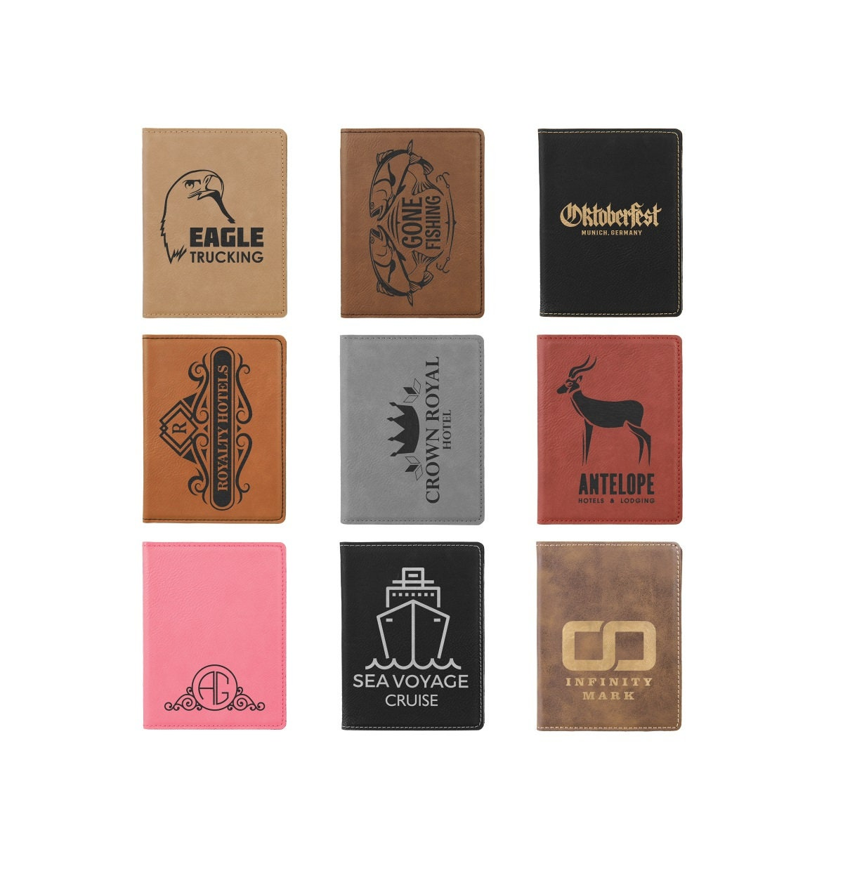 Personalized Passport Holder, Your Choice of Image/Words, Laser