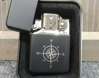 Personalized Matte Black Lighter, Your Choice of Image/Words, Custom Lighter, Monogrammed Lighter, Engraved Lighter, Personalized Gifts