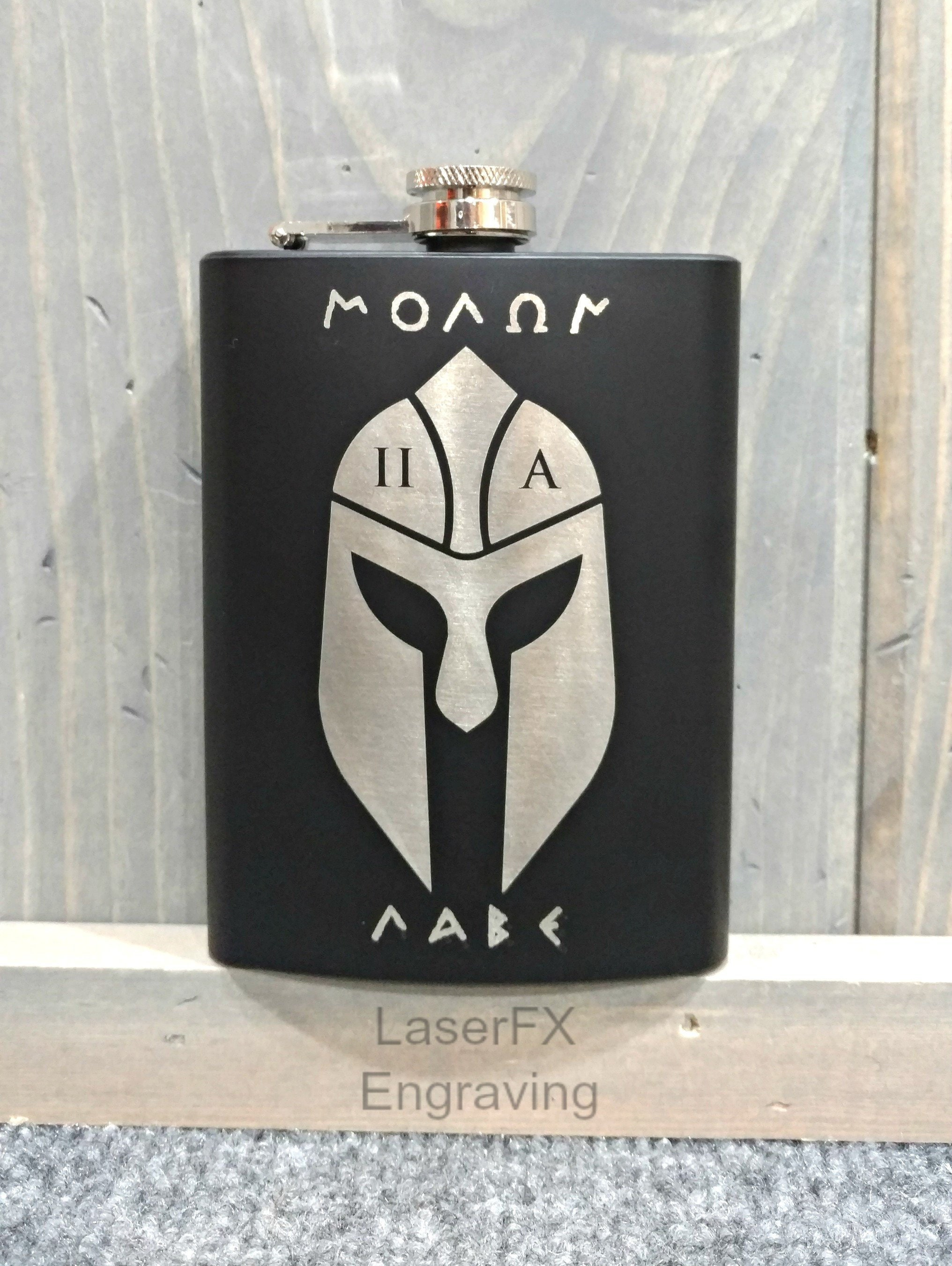 Molon Labe Spartan Flask | Personalize It with Your Choice