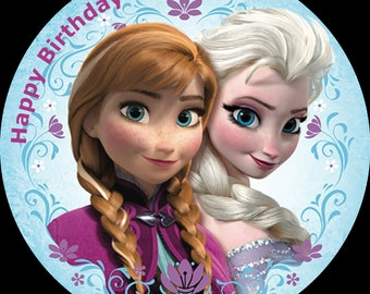 HEAD Personalized edible cake toppers FREE SHIPPING Canada FROZEN ELSA BRAID