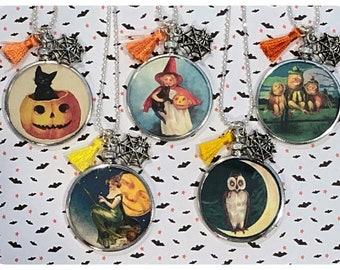 Vintage Halloween Glass Lockets