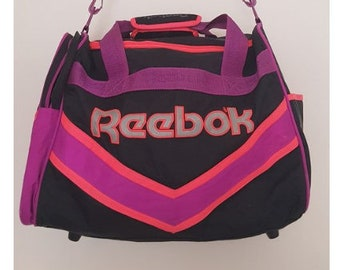 e91ccb999bd0 Amazing Rare Large Retro 80s 90s Reebok Sports Gym Overnight Bag Vintage  Neon Style