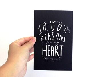 10000 reasons | Etsy