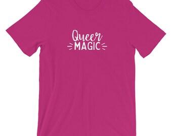 Queer Magic t-shirt, queer Magic, bisexuality, bi pride, bi arts festival, LGBT, queer tee, queer t-shirt, bisexual shirt