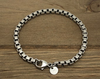 7606823f7 Tiffany and Co box Link vintage bracelet Sterling Silver 925 7